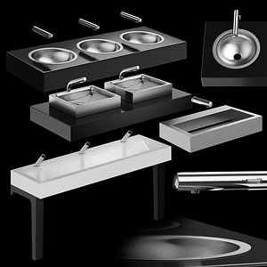 DELABIE public washbasins 3D model