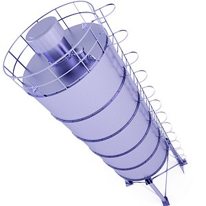3D Silo Cement Storage 20 model