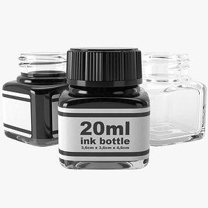 3D ink bottle 20ml model