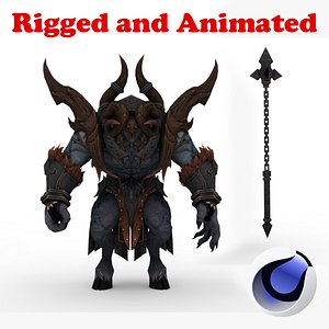 3D Bakun Demon Rigged and Animated