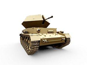 3D ostwind panzer tank flakpanzer