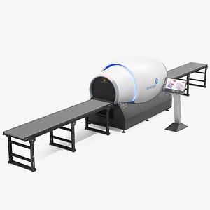connect baggage scanner monitor 3D
