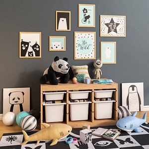 3D toy interior room