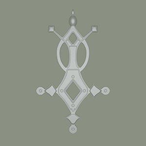 3D Agadez Cross