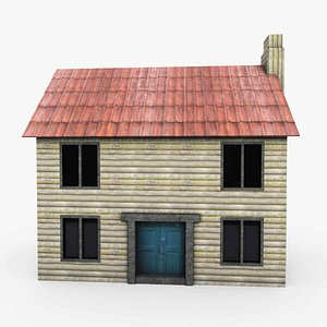 3D Game Ready Low Poly House 1 model