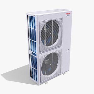Single-phase Toshiba Carrier VRF Heat Pump Outdoor Unit 3D model