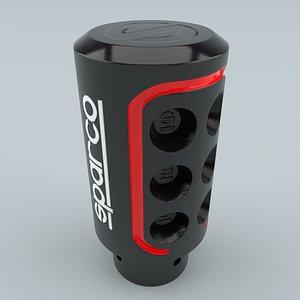 SPARCO SPC0103 Gear Shift Knob Black 3D model