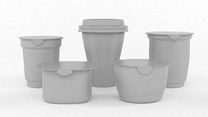 3D Plastic Yogurt Cup