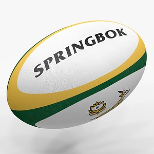 3D Rugby Ball Springbok L1492 model