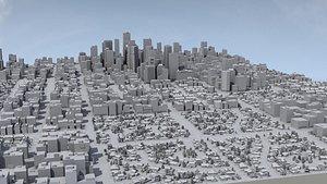 3D Metro City Mass Model