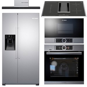 3D model electric oven bosch microwave