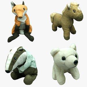 plush animals 3D model
