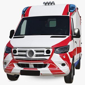 Ambulance Vehicle Simple Interior 3D