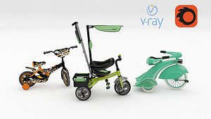 3D 3 Childrens Bicycle and Tricycle