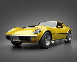 1969 Baldwin-Motion Corvette Phase III GT 3D model