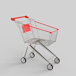 3D model Shopping Trolley Small