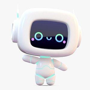 Cartoon Cute Robot 3D