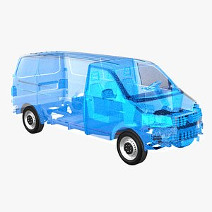 chassis van electric 3D model