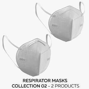 Respirator Masks Collection 02 3D