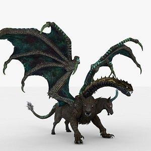 3D model Green Chimera Rigged
