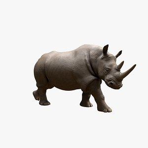 3D Walking Rhino model
