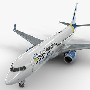 3D Boeing 737-8 MAX UKRAINE International Airlines L1342