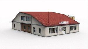 3D Roadside cafe