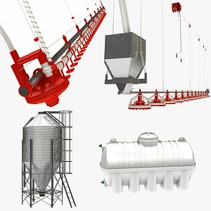 3D Chicken Feed and Water System Collection