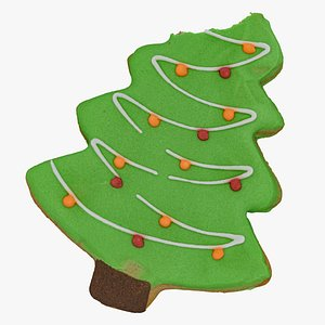christmas tree gingerbread cookie 3D