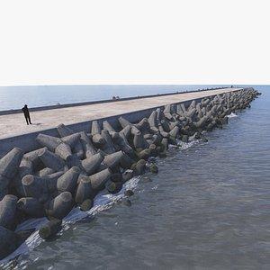 3D 3D Breakwater Type B