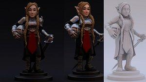 3D gnome print model