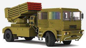 3D BM-21UM  MLRS  all