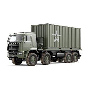 3D Truck KAMAZ 6560