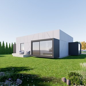House 10 - Created with fully parametric Revit Families 3D model