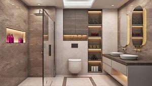 scene bathroom interior 3D