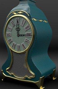 3D model clock mantel