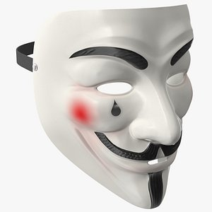 Anonymous Mask with Teardrop 3D model