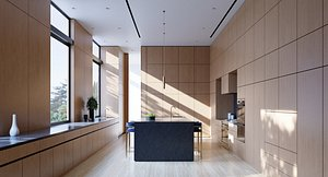 3D scene kitchen modern