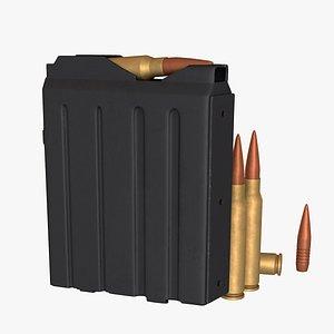 sniper rifle magazine 3D model