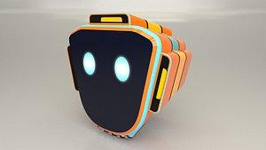 Game Character Robot Head model