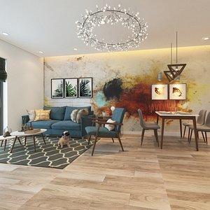 Interior Apartment Scene File 3dsmax Naresh 3D model