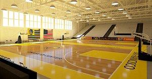 3D Basketball Training Court model