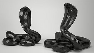 Snake Cobra Low-poly Low-poly 3D model 3D model