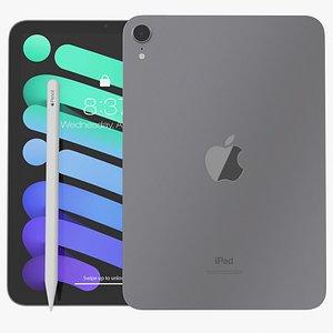 iPad mini 2021 Space Grey  With Apple Pencil model