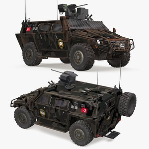 cobra-2 tactical wheeled armored 3D model
