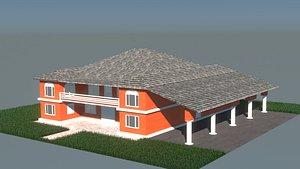 3D house architecture building
