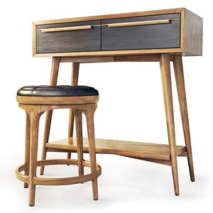 3D model dressing table bruni