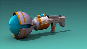 3D model low-poly weapons