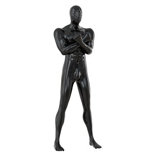 3D abstract black mannequin 160