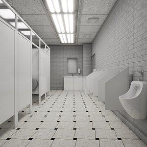 Restroom Public 3D model